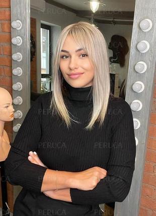 4️⃣5️⃣см матовый парик наращивание волос окрашивание перука натуральный блонд