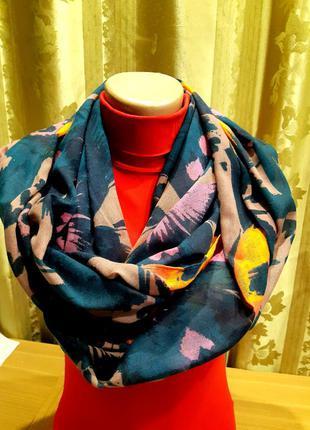 Женский  легчайший шарф снуд, труба , хомут  в два оборота. lola rose. англия