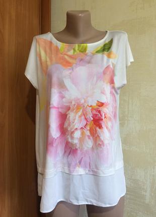 Шикарная блуза!масло,шифон!огромный выбор новой одежды!