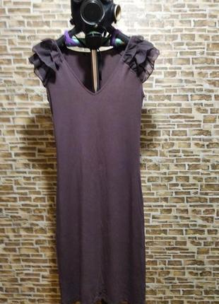 Платье вечернее/для ужина/ бардовое/ фирма sela/размер (xs)