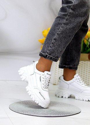 Кожаные  демисезонные кроссовки 36-41р