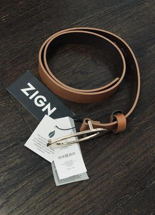 Кожаный ремень zign,германия 🇩🇪,премиум качество