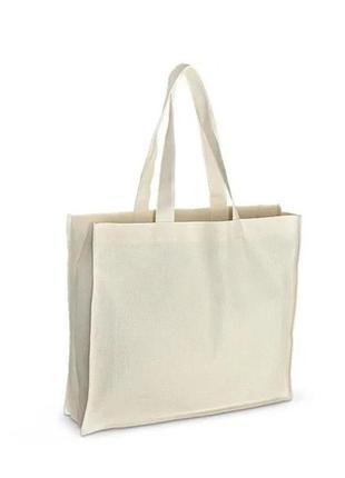 Шопер шоппер эко еко сумка тканевая для покупок беж бежевый бежевий тканинна складна торба многоразовая жіноча