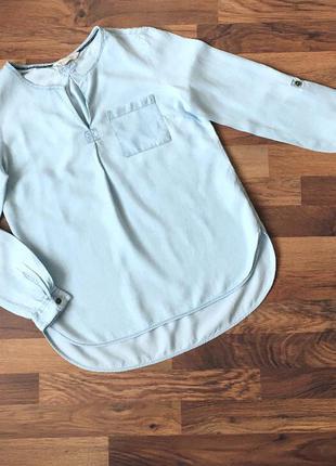 Джинсовая блуза f&f  размер 8