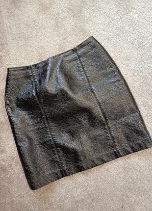 Короткая юбка, эко-кожа. 1+1= 50% скидки на 3ю вещь.