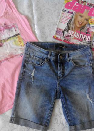 Шорты джинсовые tally weijl 32р девочке подростку или худенькой женщине