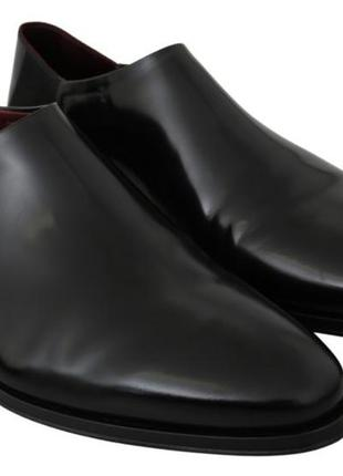 Черные кожаные туфли dolce & gabbana без шнуровки