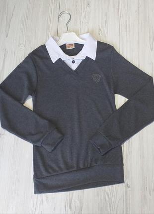 Школьная обманка с белой рубашкой на мальчиков и подростков, 8-15 лет