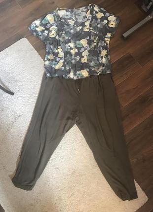 Брюки и рубашка штапель большой размер 20