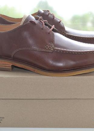Кожаные туфли clarks, размер 43