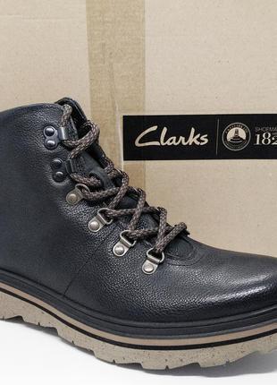 Стильные кожаные ботинки милитари берцы clarks оригинал