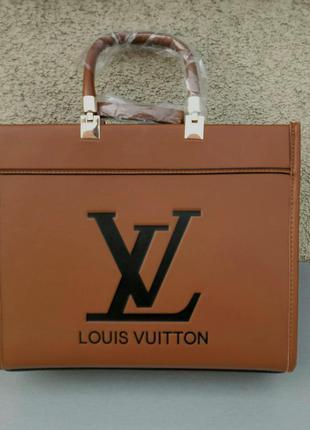 Louis vuitton стильная женская сумка коричневая