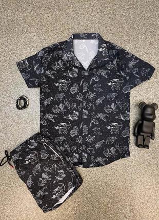Літній комплект рубашка шорти