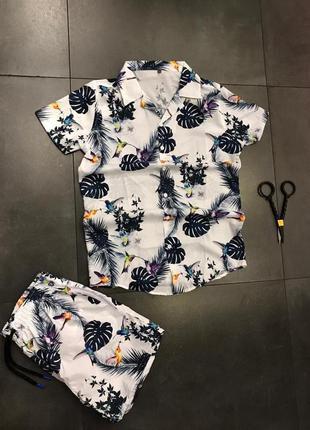 Костюм комплект рубашка шорти