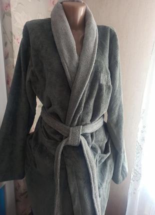 Шикарный подарок махровый велюровый мужской халат германия looks by wolfgang joop в упаковке m-l(48-52)