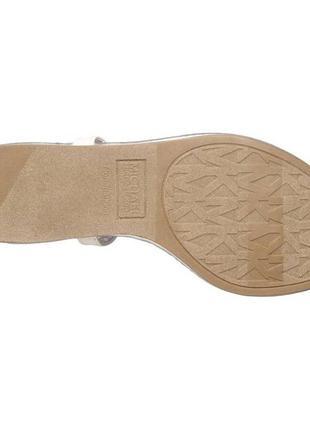 Michael kors оригинал сандалии босоножки белые с значком из сша6 фото