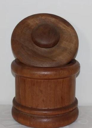 Винтажный бочонок с крышкой (дерево, дания)