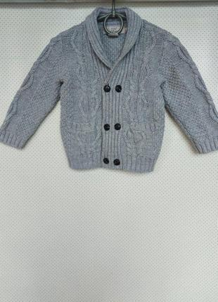 Стильный вязаный пиджак, жакет, свитер