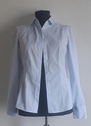 Massimo dutti классическая голубая блузка рубашка