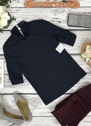 Лаконичная блуза с воротником-стойкой zara   bl4853
