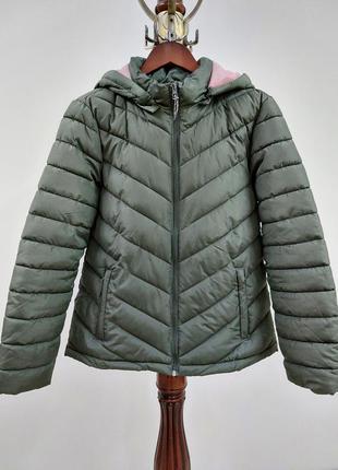 Фирменная стройнящая куртка colin's оливкового цвета внутри пудра