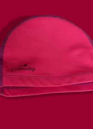 Шапка для плавання прорезинена рожевого кольору