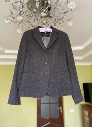 Новый пиджак massimo dutti шерстяной wool