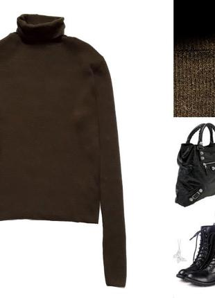 Теплый свитер  от topshop  цвета хаки