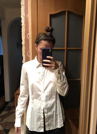 Белая рубашка блузка mexx