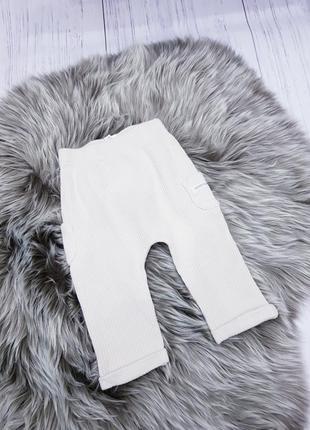 Теплые штаны в рубчик, на 9-12 месяцев, фирмы tu