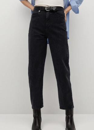 Чёрные джинсы mango, p. 40/12/l.  с высокой посадкой