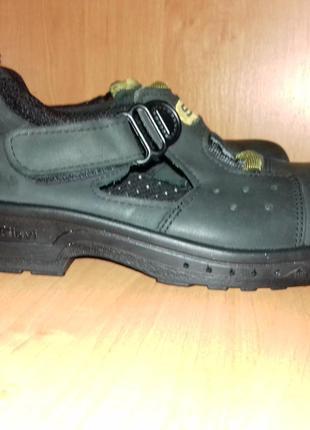 Кожаные сандалии рабочие ботинки на липучке - sievi - 37/24 см - финляндия!