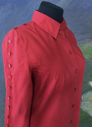 Дизайнерская ярко алая рубашка mexx деловая классическая базовая