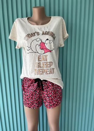 🔥 скидки 🔥 пижама disney шорты + футболка, комплект для дома и сна