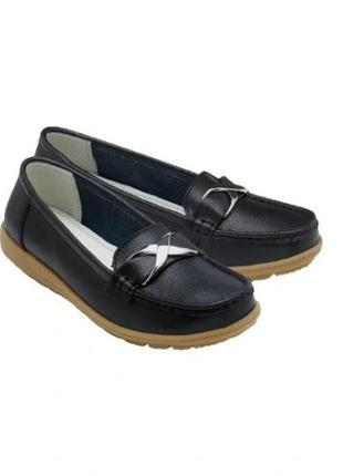 Кожаные туфли  мокасины tom&rose