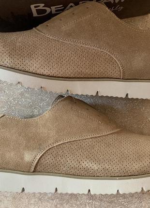 Замшевые туфли броги bearpaw