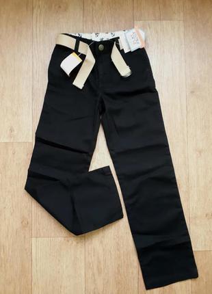Школьные брюки gymboree slim fit с поясом
