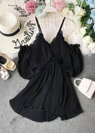 Сарафан с открытыми плечиками , сарафан черного цвета