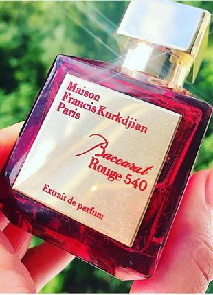 Шикарный нишевый парфюм 70 ml baccarat rouge 540 extrait de parfum