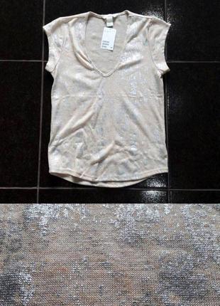 Женская футболка лен h&m