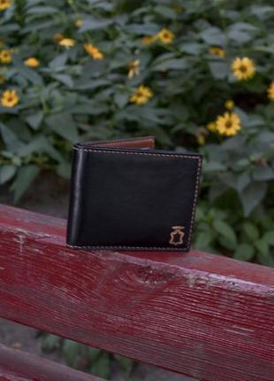Кожаный портмоне бумажник кошелек ручной работы