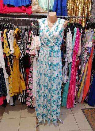 Платье шифон в пол