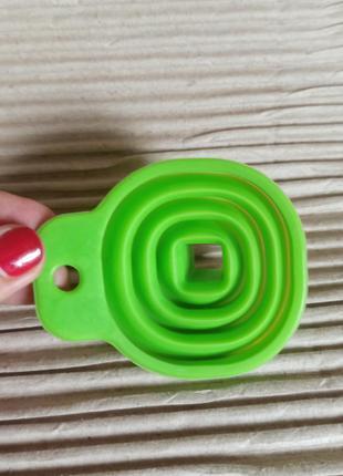 Міні силіконова лійка салатовий колір лейка дорожая силикон
