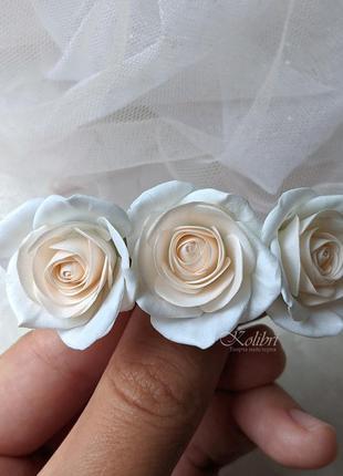 Заколка для волос с розами