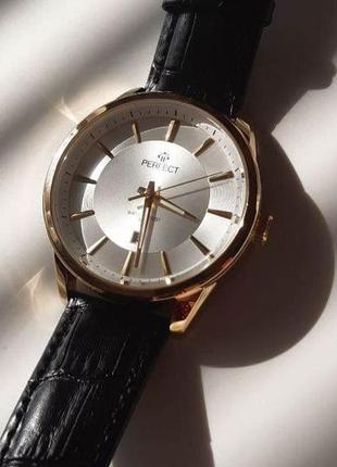 Мужские часы perfect на черном ремешке
