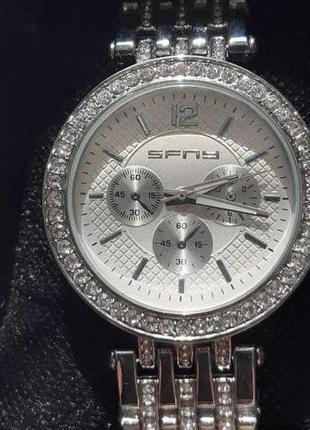 Женские кварцевые часы на браслете под серебро +подарок ❤️