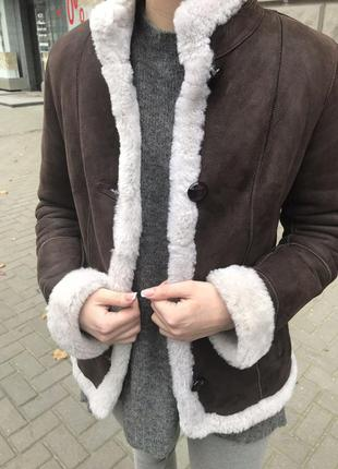 Турецкая дублёнка, натуральная кожа, внутри овчина