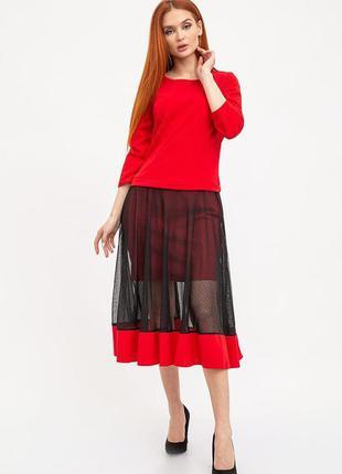 Платье женское цвет красный