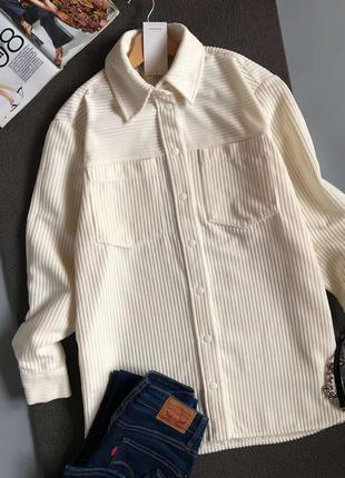 Новая роскошная вельветовая рубашка oversize reserved