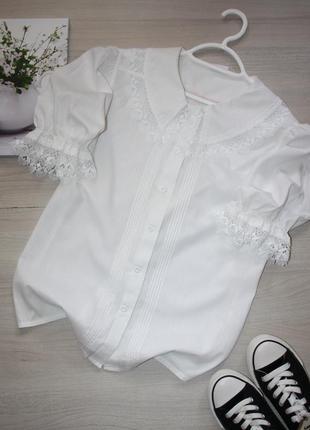 Стильная блузочка,рубашка с объемным воротником! chris